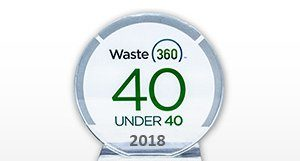 a picture of waste under 40 award